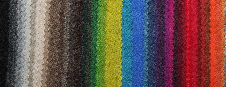 Farbkarte Loden, 100% Wolle,