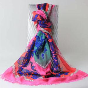 Pashmina Schal Design Ranke, pink, rot, smaragdgrün, royalblau, schwarz, weiß, Online-Shop, Shop, Paschminashop, edle Schals, edle Stolas, Accessoires,