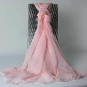 Seidenchiffon Schal einfarbig, rose, Stola, transparente Seide, 100 % Seide, Accessoires, edle Schals edle Stolas